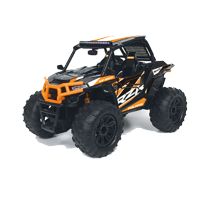 "New Bright RC 1:14 (11.5"") Radio Control 2019 Polaris RZR ATV, 2.4 GHz - Orange"