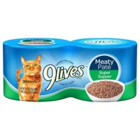 9Lives Meaty Pate Super Supper Wet Cat Food, 5.5 oz. Cans (Pack of 4)