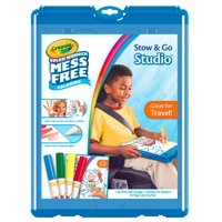 Crayola Color Wonder Stow And Go, 30 Page Coloring Pad, 4 Color Wonder Markers, 1 Lap Desk With Storage
