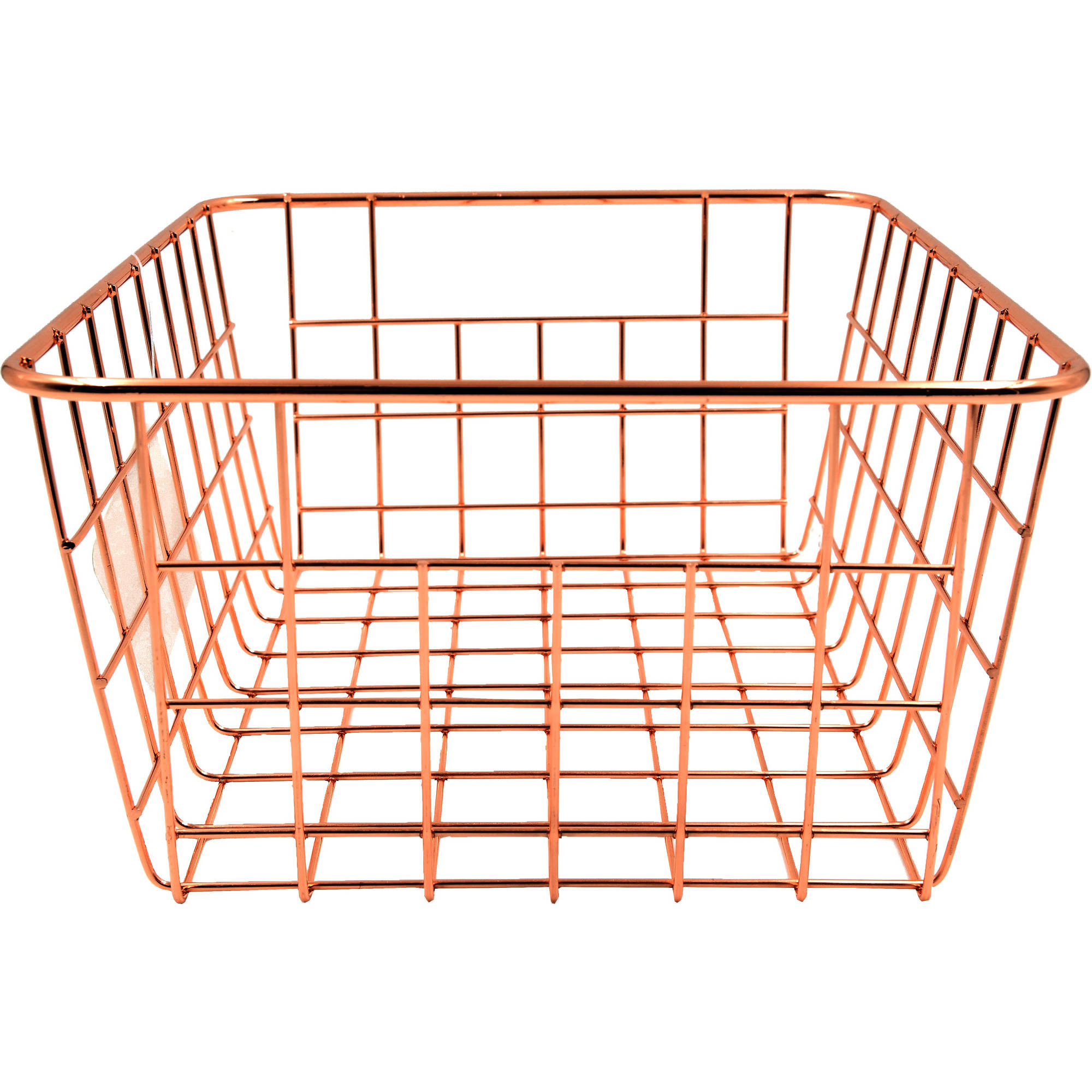 The Mainstays Rose Gold Classic Wire Storage Basket, Carbon Steel