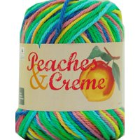 Peaches & Crème Cotton Psychedelic Ombre Yarn, 1 Each