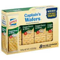 Lance® Captain's Wafers Cream Cheese and Chives Sandwich Crackers