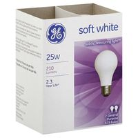 GE General Purpose Light Bulbs, Soft White, 25W