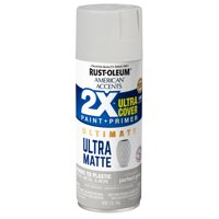 Rust-Oleum American Accents 2X Ultra Cover Ultra Matte Perfect Gray Spray Paint and Primer in 1, 12 oz