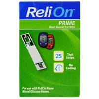 ReliOn Prime Blood Glucose Test Strips, 25 Ct