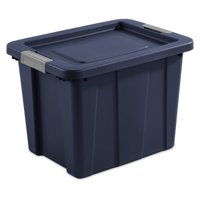 Sterilite 18 Gallon Dark Indigo Latching Tuff1 Tote, 2 Piece