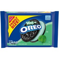 Oreo Mint Creme Chocolate Sandwich Cookies - Family Size - 20oz