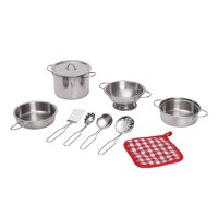 Spark. Create. Imagine. 10-Piece Metal Cookware Play Set