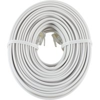 onn. 50ft. Telephone, Modem and Fax Line Cord, White – 100010005