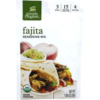 Simply Organic Seasoning Mix, Fajita