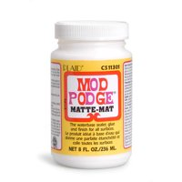Mod Podge WMCS11301CA Sealer, Glue, and Finish, Matte Finish, Clear, 8 fl oz