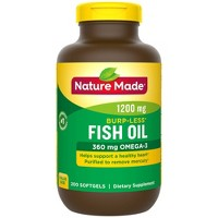 Nature Made Burp - Less Fish Oil 1200 mg Softgels - 200ct