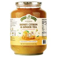 Vonbee Honey Citron Ginger Tea, 70.54 oz