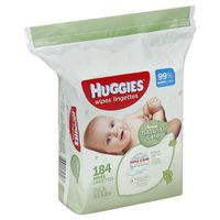 Huggies Baby Wipes, Refill, Unscented, Hypoallergenic, Aloe and Vitamin E