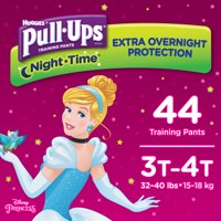 Pull-Ups Girls' Night-Time Training Pants, Size 3T-4T, 44 Count