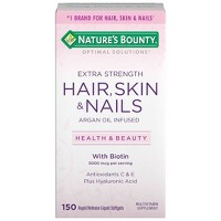 Optimal Solutions Extra Strength Hair, Skin and Nails Dietary Supplement Softgels - 150ct