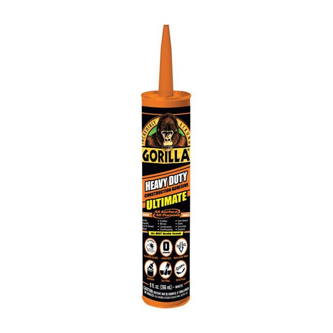 Gorilla Heavy Duty Construction Adhesive Ultimate, 9 oz Cartridge