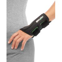 Mueller Green Fitted Wrist Brace, Black, One Size Fits Most, Left Hand
