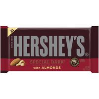 Hershey HERSHEY'S SPECIAL DARK Mildly Sweet Chocolate with Almonds Extra Large Bar,