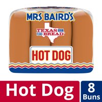 Mrs Baird's Classic Hot Dog Buns, 8 count, 12 oz