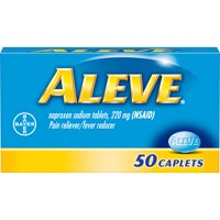 Aleve Pain Reliever/Fever Reducer Naproxen Sodium Caplets, 220 mg, 50 Ct
