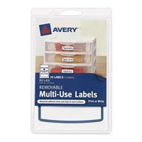 Avery 4x6 Removable Label 4-up, 20ct