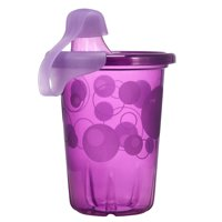 The First Years Take & Toss Hard Spout Sippy Cups With Snap-On Lids, Pink, 10 Oz, 4 Pk