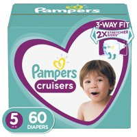 Pampers Cruisers Active Fit Diapers, Size 5, 60 Ct