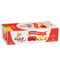 Yoplait Yogurt, Low Fat, Strawberry & Harvest Peach