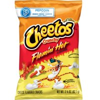 Cheetos Crunchy Flamin' Hot Cheese Flavored Snacks, 3.25 oz Bag