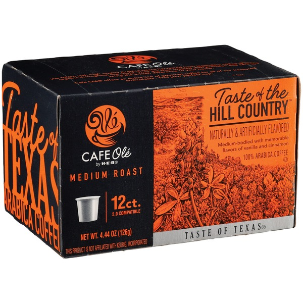 HEB Cafe Ole Taste of Hill Country Single Serve Coffee Cups