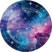 24ct Galaxy Print Disposable Dinner Plates