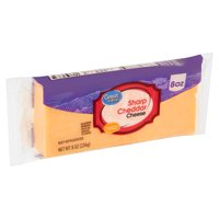 Great Value Sharp Cheddar Cheese, 8 oz