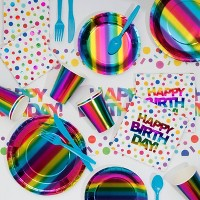 Rainbow Foil Party Supplies Collection