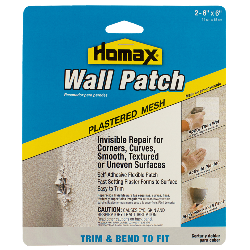 (2 Pack) Homax Plastered Mesh Wall Patch, 2PK - 6