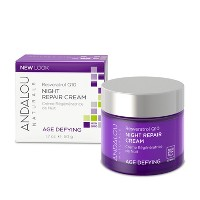 Andalou Naturals Resveratrol Q10 Night Repair Cream - 1.7 Oz