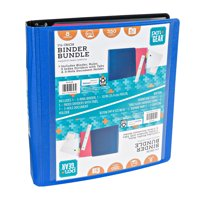 "Pen + Gear 3-Ring Binder Bundle, 1.5"" Blue, D-Ring"
