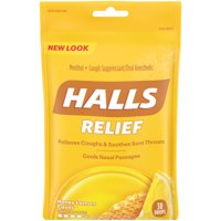 Halls Cough Drops, Honey Lemon, 30 Ct
