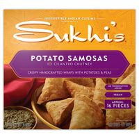 Sukhi's Potato Samosas with Cilantro Chutney, 16 ct