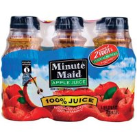 Minute Maid 100% Apple Juice, 10 Fl. Oz., 6 Count