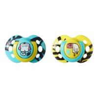 Tommee Tippee Closer to Nature Fun Style Baby Pacifiers, 6-18 months - 2ct (Colors May Vary)