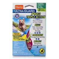 Hartz UltraGuard Pro with Aloe Flea & Tick Drops for Dogs 5-14 lbs, 3 Monthly Treatments