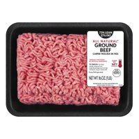 All Natural* 73% Lean/27% Fat Ground Beef Tray, 1 lb