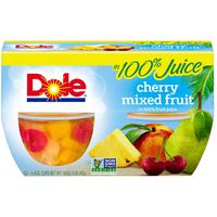 Dole Fruit Bowls in 100% Juice Cherry Mixed Fruit