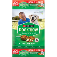 Purina Dog Chow Dry Dog Food, Complete Adult With Real Chicken - 20 lb. Bag