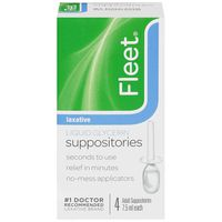 Fleet Liquid Glycerin Laxative 7.5ml Suppositories