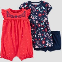 Baby Girls' 2pk Poppy Floral Dress set - Just One You® made by carter's Poppy Pink