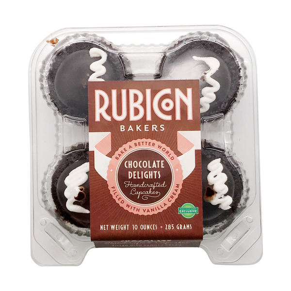 Rubicon bakers Chocolate Delights Cupcakes, 10 oz