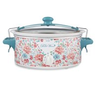 The Pioneer Woman Gorgeous Garden 6 Quart Portable Slow Cooker, 33068N