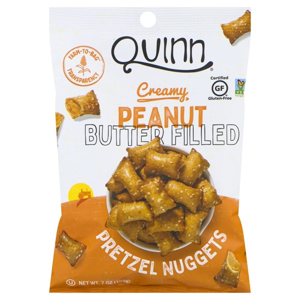 Quinn Pretzel Nuggets, Creamy Peanut Butter Filled